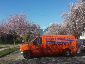 Water Damage Restoration At Residential Job