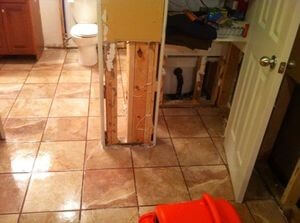 Bathroom Flood Restoration