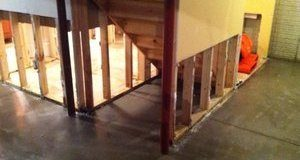 First Floor Mold Removal Job From Water Damage