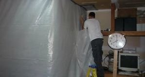 Sealing In Mold With A Vapor Barrier