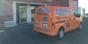 Mold Damage Restoration Van Being Prepped