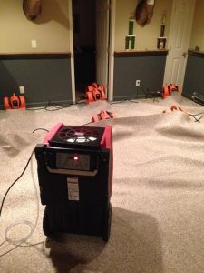 Water Damage Restoration With Air Movers