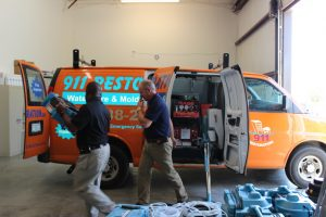 911 Restoration of Charlotte-Machine in Car
