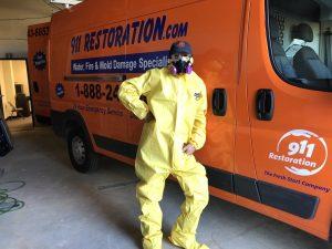hazmat-suit-911-restoration-van-water-damage-repair